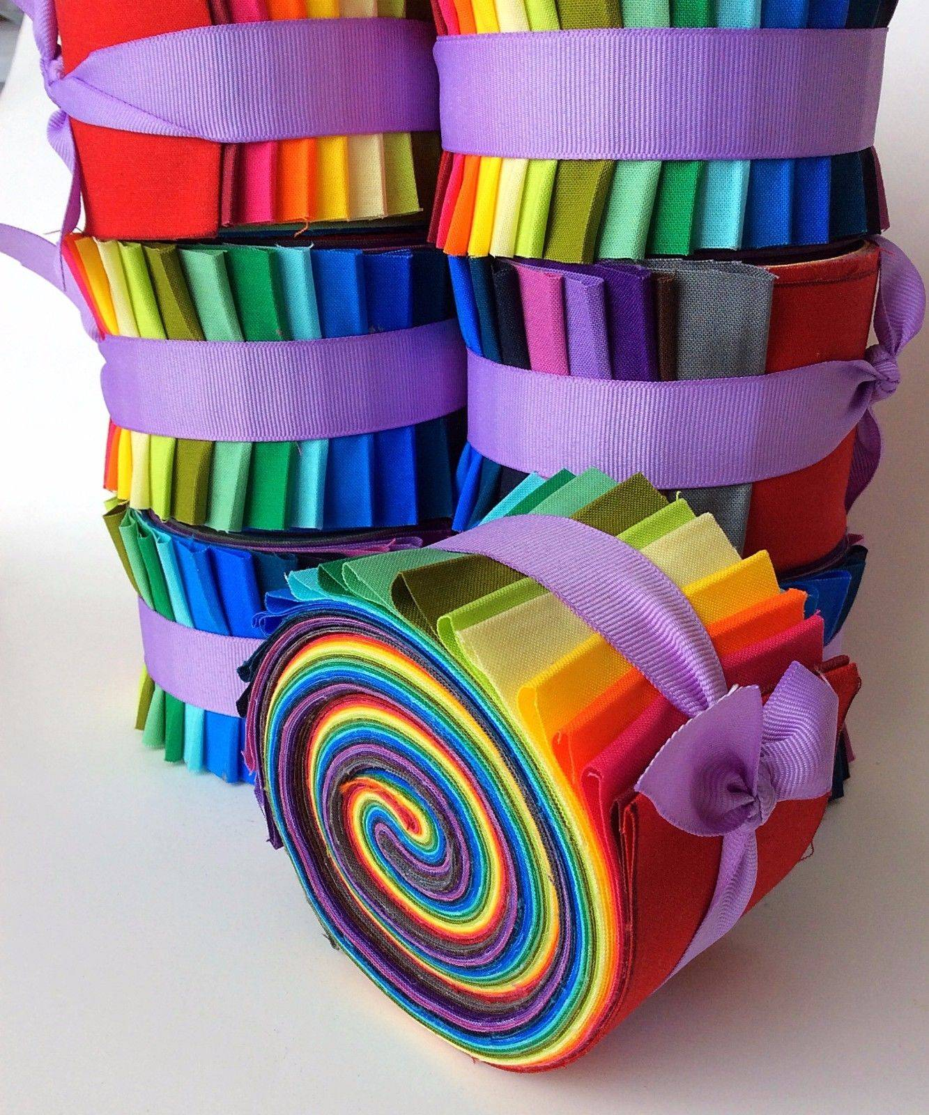 2 5 Inch Rainbow Jelly Roll Fabric Quilting Strips Moda