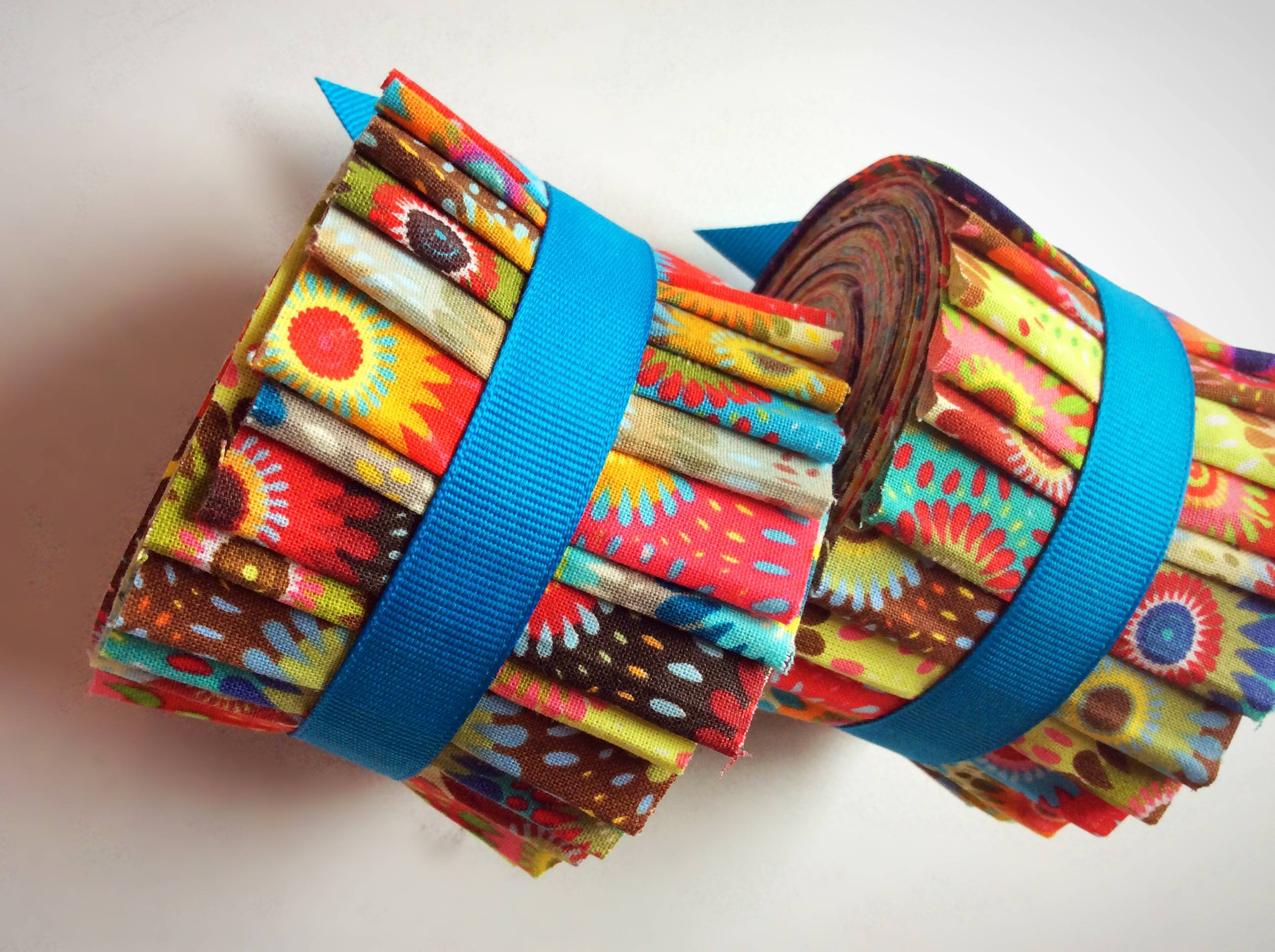 2.5 inch SUMMER RAYS Jelly Roll fabric quilting strips - 1 ...