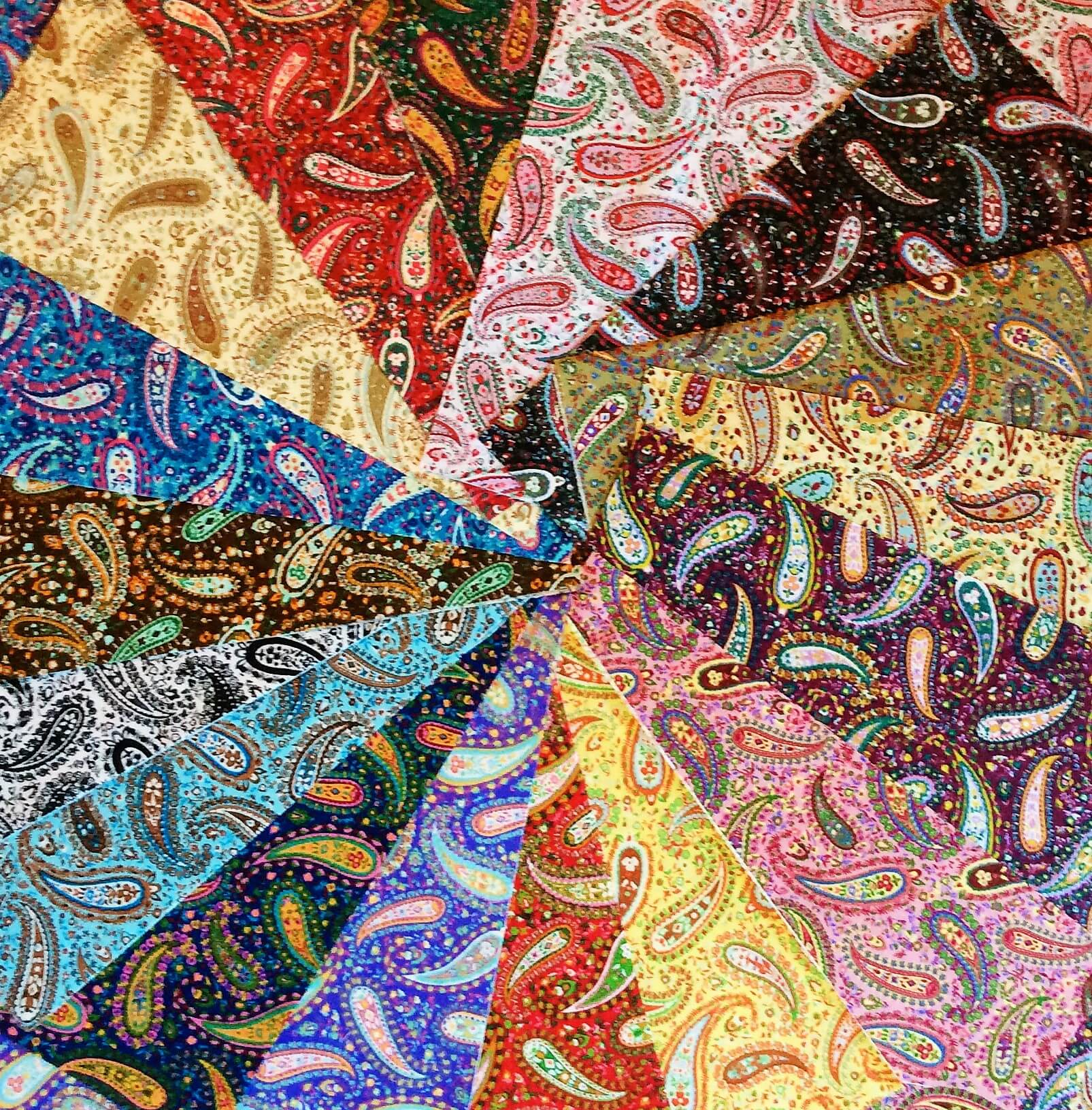 102 Paisley Party Pattern Pre Cut Charm Pack 5 X 5 Inches